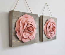 Load image into Gallery viewer, Light Blush Roses on Wood Canvases - Daisy Manor