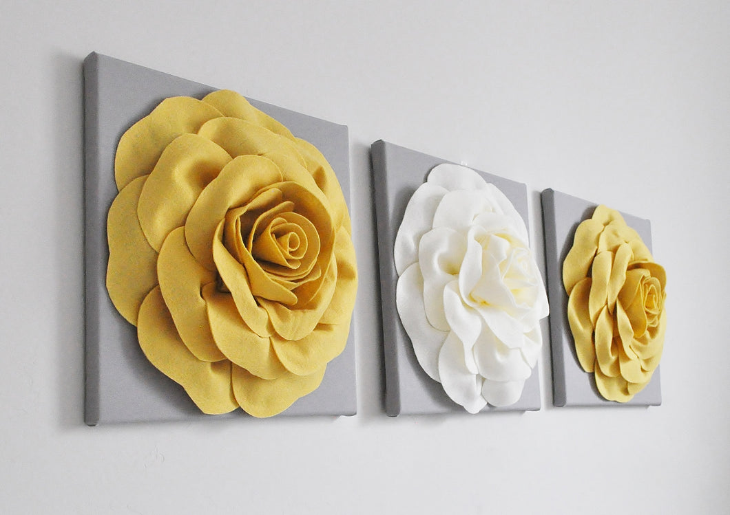 Mellow Yellow and Ivory Wall Art