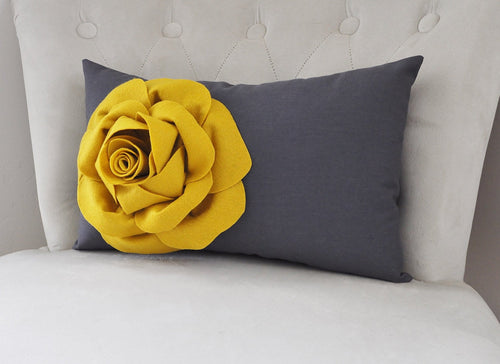 Charcoal Lumbar Pillow - Daisy Manor