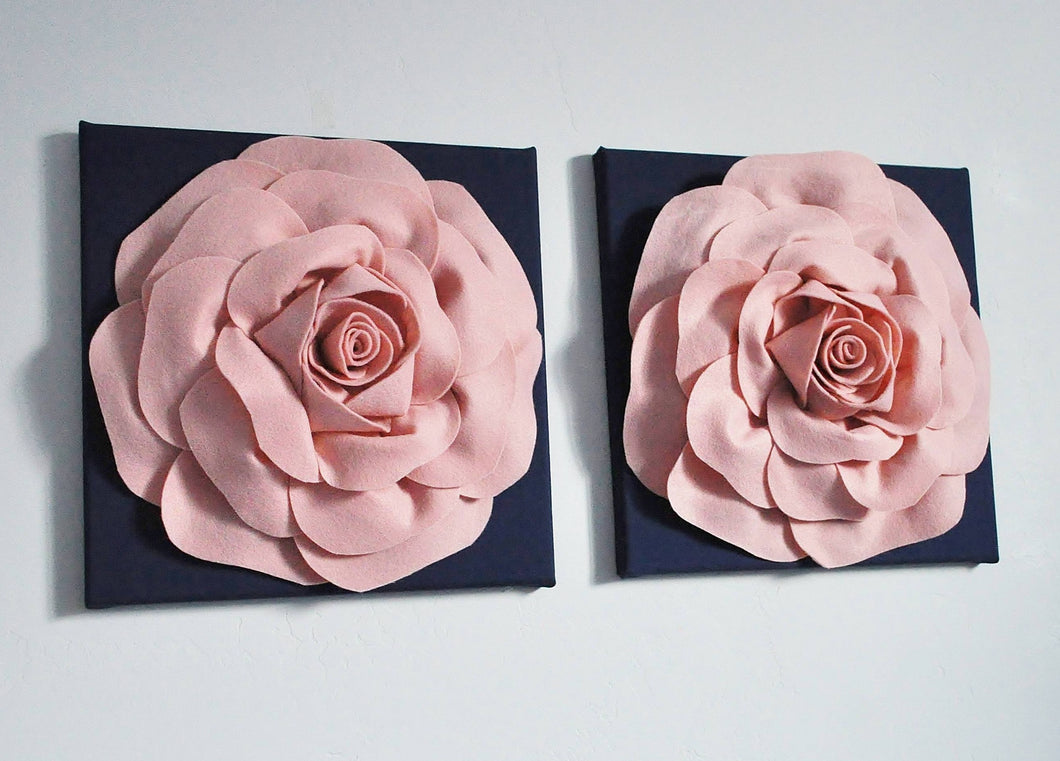 Rose Gold on Navy Wall Art - Daisy Manor