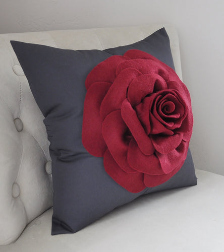 Charcoal Decorative Pillow - Daisy Manor