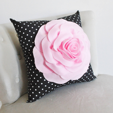 Load image into Gallery viewer, Decorative Pillow Black Polka Dot - Daisy Manor