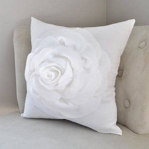 White Decorative Pillow - Daisy Manor