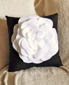 Red Rose on White Pillow 14x14 - Daisy Manor
