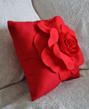 Load image into Gallery viewer, Red Rose on Red Pillow - Daisy Manor
