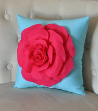 "Load image into Gallery viewer, Pink Rose on Brown Pillow 14""x14"" Throw Pillow - Daisy Manor"