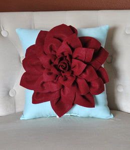 Ruby Red Throw Pillow - Daisy Manor