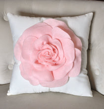 Load image into Gallery viewer, Light Pink Throw Pillow - Daisy Manor