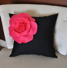 Load image into Gallery viewer, Ivory Corner Rose on Light Pink Pillow 14 X 14 - Decorative Pillow - Throw Pillows - Daisy Manor