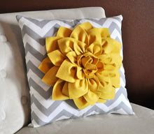 Load image into Gallery viewer, Two -Gray and White Zigzag Pillows -Chevron Pillows- Stuffed Pillows- 14 x 14 - Daisy Manor