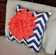 Load image into Gallery viewer, Navy Decorative Pillow - Daisy Manor