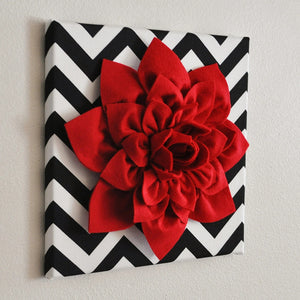 Black Chevron Wall Decor - Daisy Manor