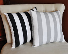 Load image into Gallery viewer, Two Stuffed Stripe Pillows -Choose Your Own Colors- Premier Prints-14 x 14 - Daisy Manor