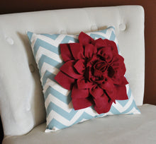 Load image into Gallery viewer, Pillows, Red Pillow, Decorative Throw Pillows,Throw Pillow, Blue Pillows, Decorative Pillows, Cushions, Autumn Decor, Flowe - Daisy Manor