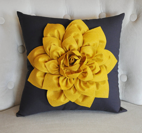 Mustard Decorative Pillow Cover - Daisy Manor