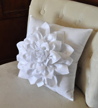 Load image into Gallery viewer, White Decorative Pillow - Daisy Manor