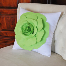 Load image into Gallery viewer, Green Decorative Pillow - Daisy Manor