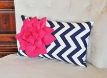 Load image into Gallery viewer, Hot Pink Lumbar Pillow - Daisy Manor