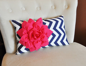 Hot Pink Lumbar Pillow - Daisy Manor