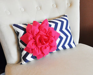 Chartreuse / Hot Pink Pillow - Daisy Manor