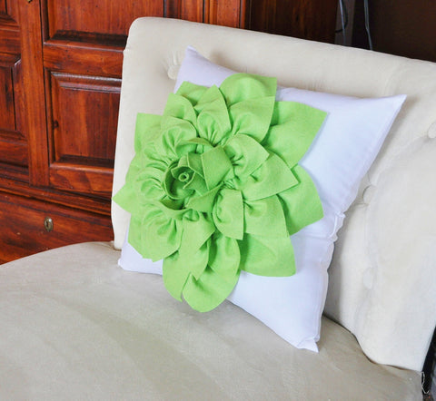 Lime Green Throw Pillow