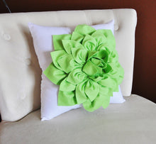Load image into Gallery viewer, Lime Green Throw Pillow - Daisy Manor