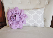 Load image into Gallery viewer, Lilac Lumbar Pillow - Daisy Manor
