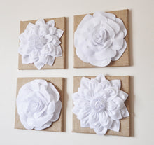 Load image into Gallery viewer, Floral Gray and White Canvas Wall Art Sets - Daisy Manor