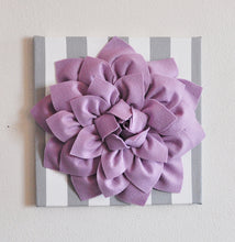 Load image into Gallery viewer, Lilac / Grey Stripe Wall Decor - Daisy Manor