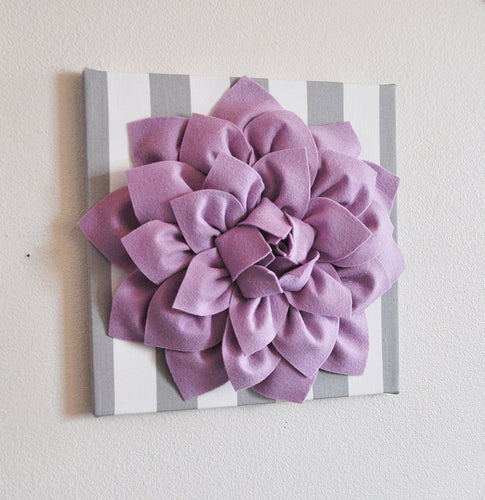 Lilac / Grey Stripe Wall Decor - Daisy Manor