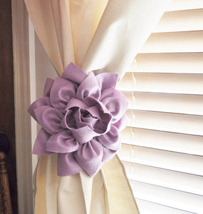 Lilac Curtain Tie back Set of Two - Daisy Manor