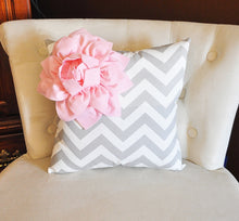 Load image into Gallery viewer, Lt Pink Corner Dahlia Pillow - Daisy Manor