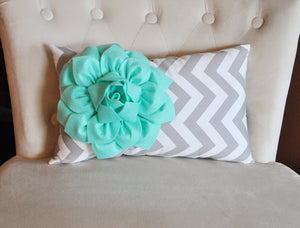 Mint Lumbar Pillow - Daisy Manor