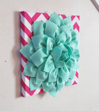 Load image into Gallery viewer, Mint and Hot Pink Wall Hanging - Daisy Manor
