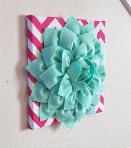 Mint and Hot Pink Wall Hanging - Daisy Manor