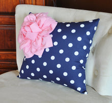 Load image into Gallery viewer, Navy Dot Corner Pillow - Daisy Manor