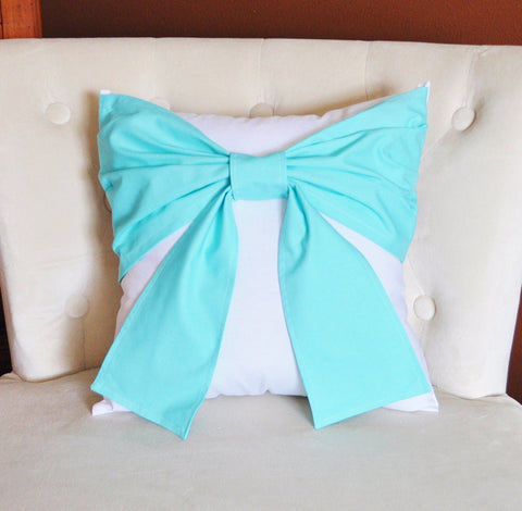 Aqua Bow Pillow