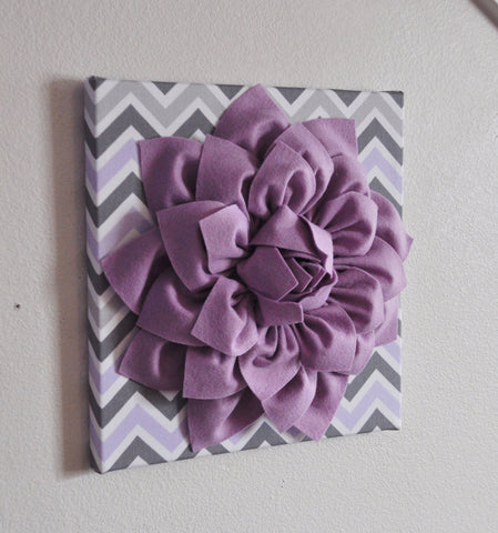 Lilac Gray Wall Flower
