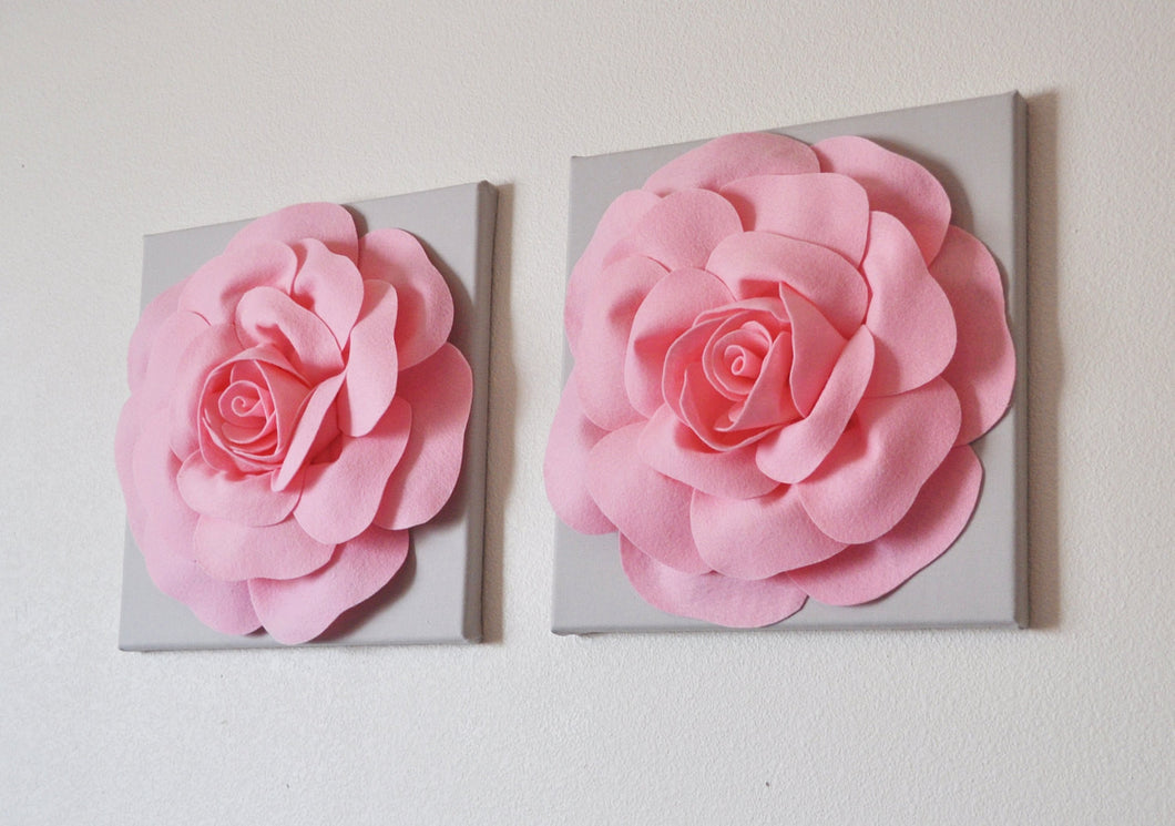 Pink Gray Wall Decor - Daisy Manor