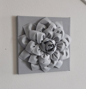 Silver Gray Wall Flower Wall Hanging, Nursery Art, Baby Art, Wall Decor, Holiday Decor, Holiday Wall Art, Christmas, Gray N - Daisy Manor