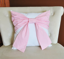 Load image into Gallery viewer, Pink Bow Pillow - Daisy Manor