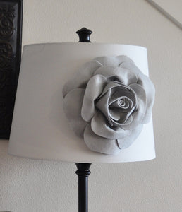 Gray Dahlia Lampshade Flower Accessory Magnet -Lamp Shade Flower Embellishment- New Collection - Daisy Manor