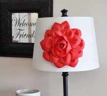 Load image into Gallery viewer, Lamp Shade Coral Dahlia Flower Magnetic Accessory -Decorative Lighting- - Daisy Manor
