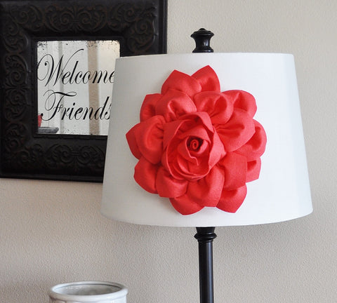 Lamp Shade Coral Dahlia Flower Magnetic Accessory -Decorative Lighting-