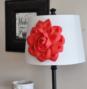 Lamp Shade Coral Dahlia Flower Magnetic Accessory -Decorative Lighting- - Daisy Manor