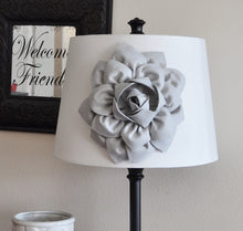 Load image into Gallery viewer, Gray Dahlia Lampshade Flower Accessory Magnet -Lamp Shade Flower Embellishment- New Collection - Daisy Manor