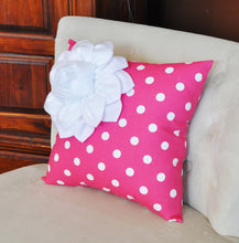 Load image into Gallery viewer, Pillows, Decorative Throw Pillows,Throw Pillow, Pink Pillows, Decorative Pillows, Cushions, Nursery Decor, Polka Dot, Showe - Daisy Manor
