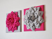 Load image into Gallery viewer, Magenta and Gray Wall Art Set - Daisy Manor