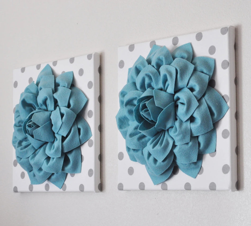 Dusty Blue Wall Decor - Daisy Manor