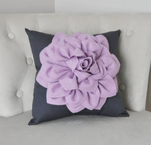Load image into Gallery viewer, Pillow, Flower Pillow, Decorative Pillow, Purple Pillows, Decorative Throw Pillows, Baby Nursery Decor, Home Decor, Wedding - Daisy Manor